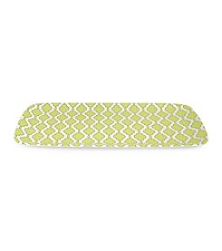 LivingQuarters Botanical Collection Green Print Tray