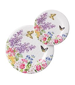 LivingQuarters Botanical Collection Lilac Plate