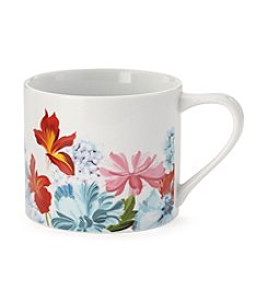 LivingQuarters Coupe Floral Cappuccino Mug