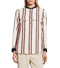 Vince Camuto® Long Sleeve Bohemian Stripe Blouse