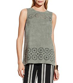 Vince Camuto® Sleeveless Faux Suede Top