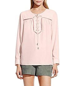 Vince Camuto® Long Sleeve Lace Up Blouse