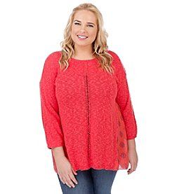 Lucky Brand® Plus Size Pleat Back Sweater