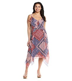 Jessica Simpson Plus Size Crinkle Chiffon Maxi Dress