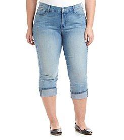 NYDJ® Plus Size Daya Wide Cuff Capri Jeans