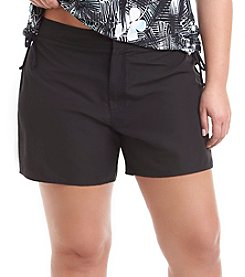 Jag Sport® Plus Size Shaka Swim Shorts