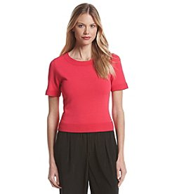 Ivanka Trump® Short Sleeeve Crew Neck Sweater
