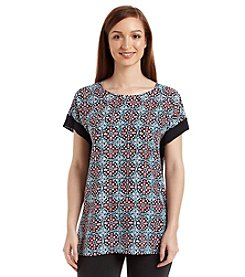 MICHAEL Michael Kors® Short Sleeve Nui Print Top
