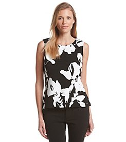 Calvin Klein Sleeveless Floral Knit Top