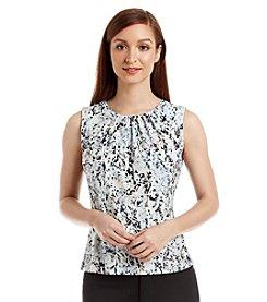 Calvin Klein Sleeveless Confetti Print Top