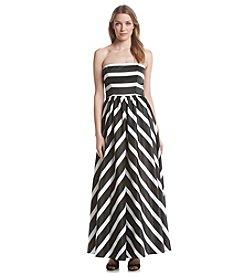 Betsy & Adam® Striped Ballgown