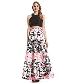 Xscape Two Piece Floral Gown