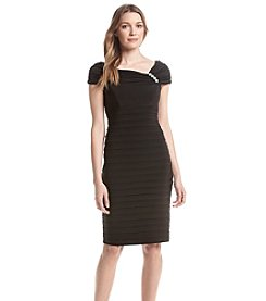 Xscape Textured Over The Shoulder Dress