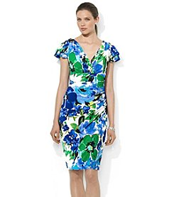 Lauren Ralph Lauren® Flutter-Sleeved Floral Dress