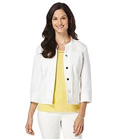 Rafaella® Petites' Solid Stretch Jacket