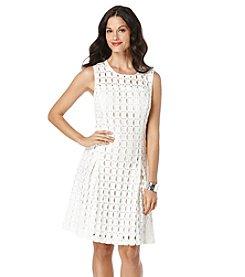 Rafaella® Petites' Geo Lace Dress