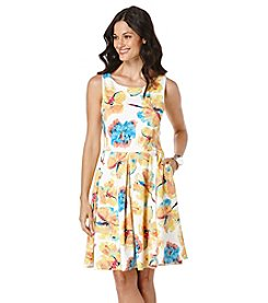 Rafaella® Petites' Bright Blooms Print Scuba Dress