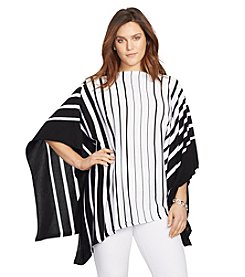 Lauren Ralph Lauren® Plus Size Striped Poncho