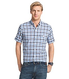 Izod® Men's Big & Tall Short Sleeve Woven Button Down Shirt