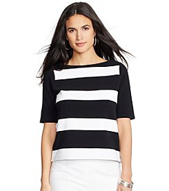 Lauren Ralph Lauren® Striped Boatneck Cotton Top