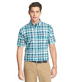 Izod® Men's Large Plaid Short Sleeve Button Down Shirt