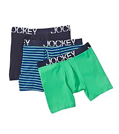 Jockey® Men's 3-Pack Midway Active Stretch Boxer Briefs