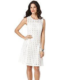 Rafaella® Geo Lace Scuba Dress