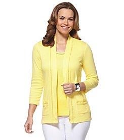 Rafaella® Solid Open Front Cardigan