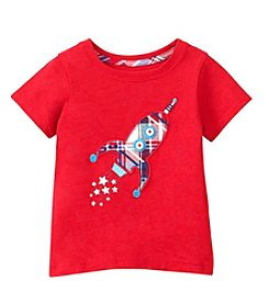 Mix & Match Baby Boys' Short Sleeve Rocket Applique Tee