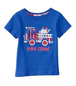 mix&MATCH Baby Boys' Short Sleeve Fire Truck Applique Tee