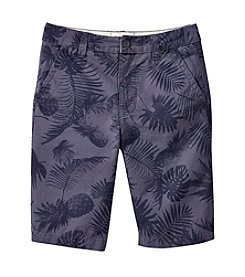 Ruff Hewn Boys' 8-20 Palm Printed Flat Front Shorts