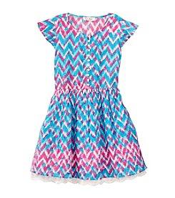 Jessica Simpson Girls' 7-16 Zigzag Printed Skater Dress