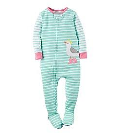 Carter's® Girls' 2T-6X Striped Bird Sleeper