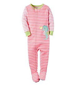 Carter's® Girls' 2T-6X Striped Seahorse Sleeper