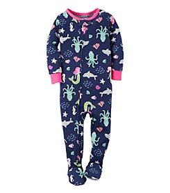 Carter's® Girls' 2T-6X Mermaid Print Sleeper