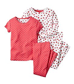 Carter's® Girls' 2T-6X Strawberry Dot 4-Piece Pajamas
