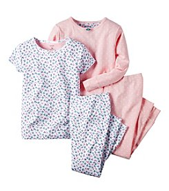 Carter's® Baby Girls' Floral Patterned 4-Piece Pajamas