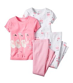 Carter's® Baby Girls' Flamingo Print 4-Piece Pajamas