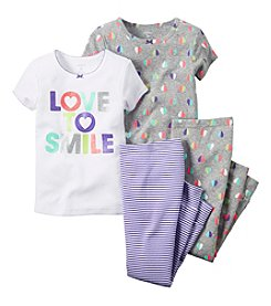 Carter's® Baby Girls' 'Love To Smile' 4-Piece Pajamas Set