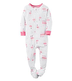 Carter's® Girls' 2T-6X Flamingo Print Sleeper