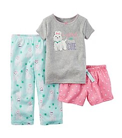 Carter's® Girls' 2T-6X Cute Dog 3-Piece Pajamas