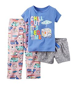 Carter's® Baby Girls' 'Chill Out It's Bedtime' 3 Piece Pajamas Set