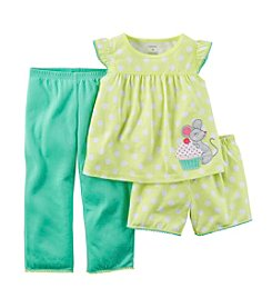 Carter's® Baby Girls' 3-Piece Mouse Dot Pajamas