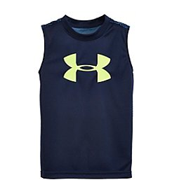 Under Armour® Boys' 4-7 Short Sleeve Printed Muscle Tank