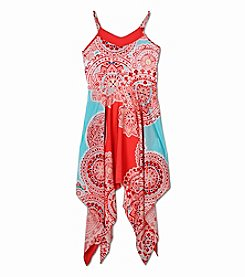 Amy Byer Girls' 7-16 Geo Printed Sharkbite Dress