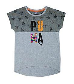 PUMA® Girls' 7-16 Stary Printed Scooped Hem Top