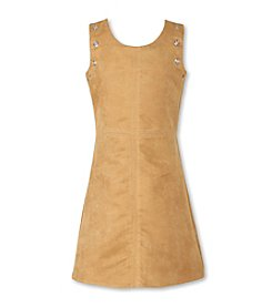 Speechless® Girls' 7-16 Faux Suede Aline Rivot Dress