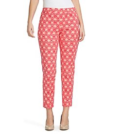 Chaus Courtney Ankle Batik Stars Print Pants