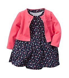 Carter's® Baby Girls' Floral Printed Dress With Cardigan Set