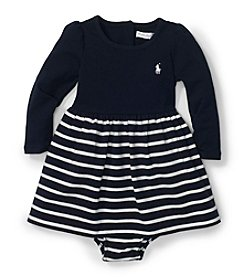 Ralph Lauren Childrenswear Baby Girls' Solid To Striped Knit Dress